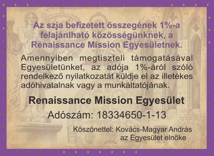 1% Renaissance Mission Egyesület